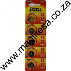 Excell CR1616 3V Lithium Battery Blister - 5Pce Card