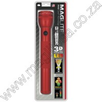 Red Maglite LED 3D Cell Flashlight