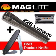 Maglite AA Pro 226 Lumens with Ultratec B&B Pocket Knife