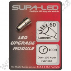 LED Upgrade Module 2 to 4 D & C Cell 60 Lumens