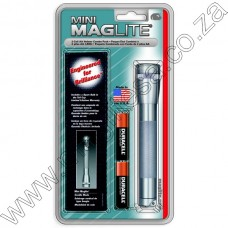 Pewter Mini Maglite Holster Pack 2 Cell AA Flashlight