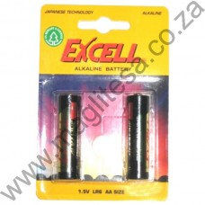 Excell AA (LR6) Alkaline Batteries - 2 per pack