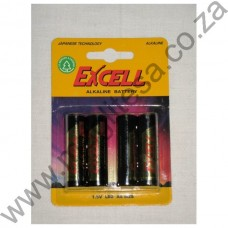 Excell AA (LR6) Alkaline Batteries - 4 per pack