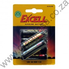Excell AA (LR6) Alkaline Batteries - 6 per pack