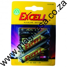 Excell AAA (LR03) Alkaline Batteries - 6 per pack