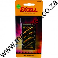 EXCELL AAA (LR03) ALKALINE BATTERIES - 12 PER PACK