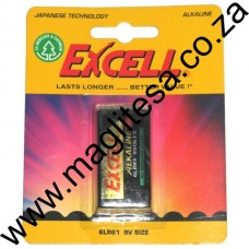 Excell 9V Alkaline Battery One Pack