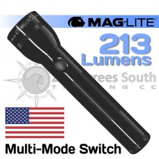 BLACK MAGLITE LED 2D CELL FLASHLIGHT