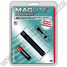BLACK MAGLITE SOLITAIRE AAA FLASHLIGHT IN HANG PACK