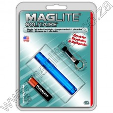 BLUE MAGLITE SOLITAIRE AAA FLASHLIGHT IN HANG PACK