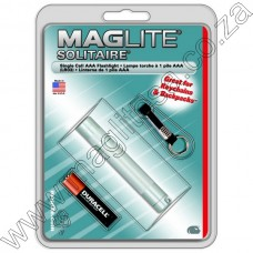 SILVER MAGLITE SOLITAIRE AAA FLASHLIGHT IN HANG PACK