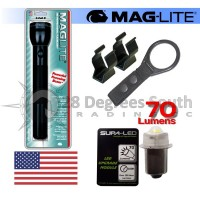 BLACK MAGLITE 3D CELL W 70 LUMEN LED MODULE